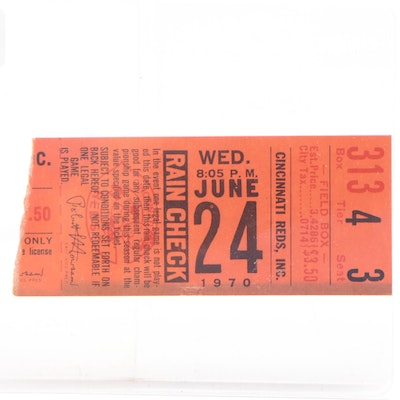 Ticket Stub From the Last Game At Crosley Field
