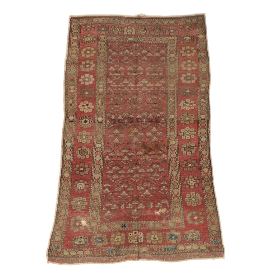 Hand-Knotted Persian Malayer Wool Area Rug