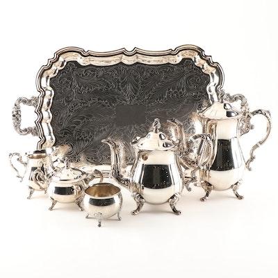 Leonard Silver Plated Tea and Coffee Service