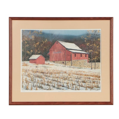 """Don Patterson Offset Lithograph """"After the Harvest"""", 1986"""