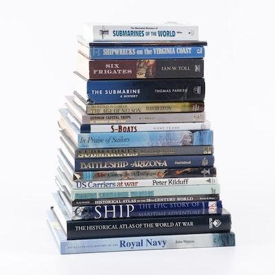 "Navy Military History Books including ""Battleship Arizona"" and ""Submarines"""