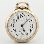 Vintage Hamilton Railway Special Gold Tone Open Face Pocket Watch, 1954
