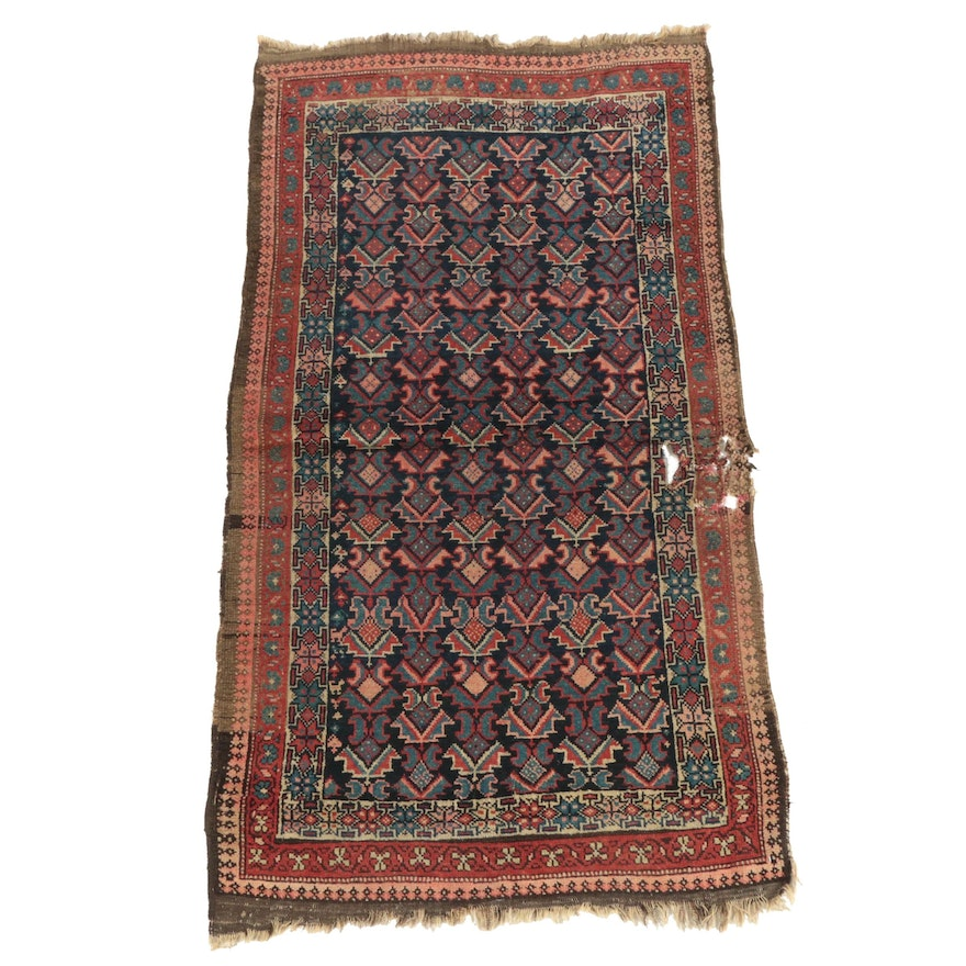 Hand-Knotted Persian Malayer Wool Rug