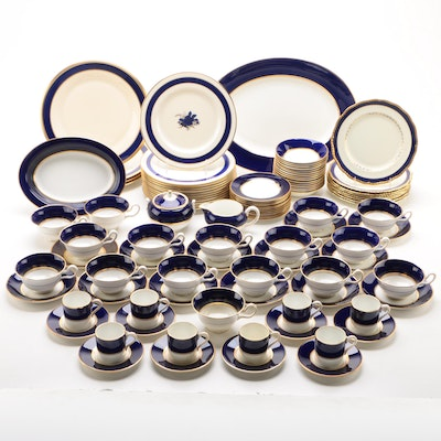 "Wedgwood ""Cobalt Royal"" Porcelain Dinnerware and Other Dinnerware"