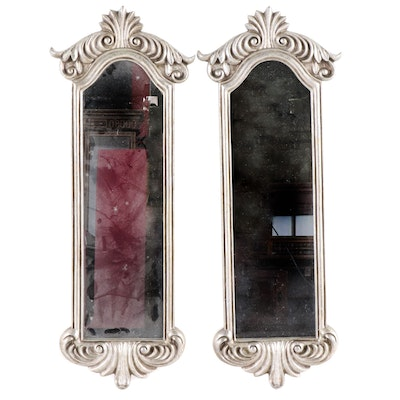 Decorative Composition Silver Painted Mirrors, Contemporary