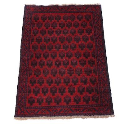 Hand-Knotted Afghan Turkmen Rug