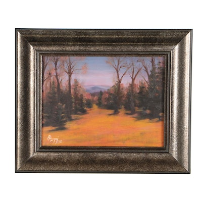 Rita Rozzi Oil Painting of an Autumn Landscape