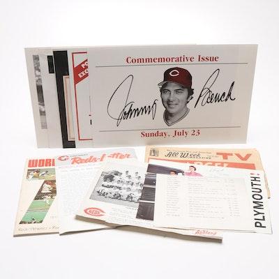 Cincinnati Reds Memorabilia Including Ted Kluszewski Signed Advertisement