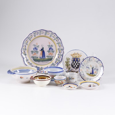Quimper French Faïence Dinnerware