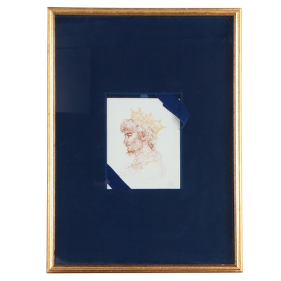 "Edna Hibel Lithograph on Porcelain ""King David"""