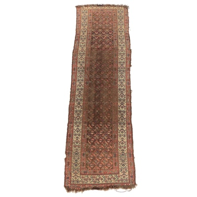 Hand-Knotted Kurdish Bijar Wool Carpet Runner