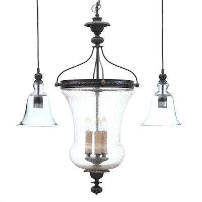 Contemporary Glass Dome Ceiling Pendant Light Fixtures