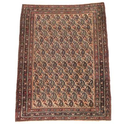 Hand-Knotted Caucasian Kazak Mir Boteh Wool Rug