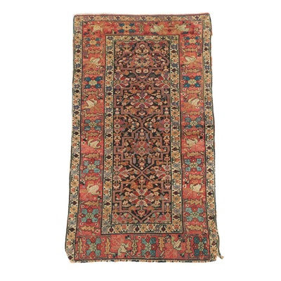 Hand-Knotted Persian Feraghan Wool Rug