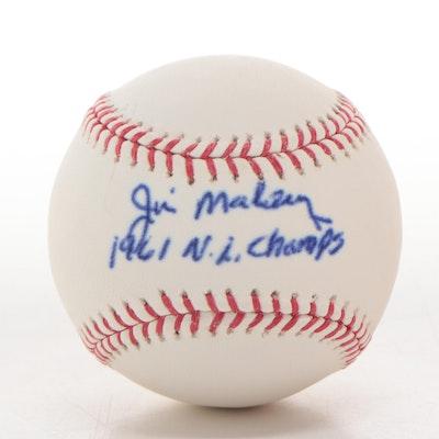 "Jim Maloney Signed Rawlings ""1961 N.L. Champs"" MLB Baseball"