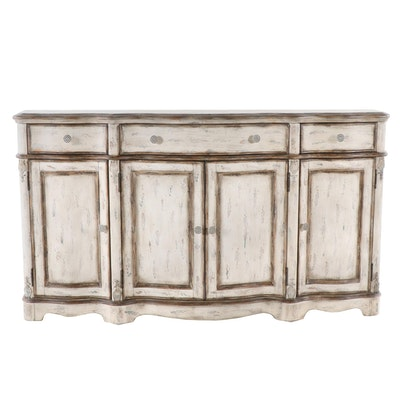 Italianate Style Paint Decorated Credenza, Late 20th Century