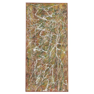 Oscar Murillo Abstract Oil Painting, Late 20th Century