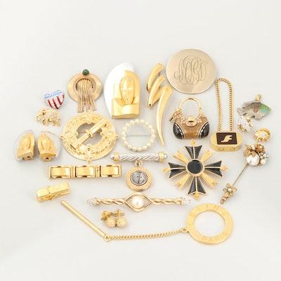Jewelry Featuring Swarovski, Miriam Haskell, Winard, Imitation Pearl and Enamel