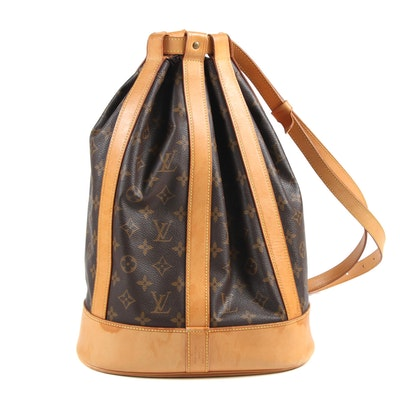 Louis Vuitton Paris Randonnée PM Backpack in Monogram Canvas and Leather