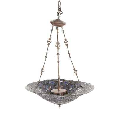 Quoizel Tiffany Style Stained Glass Pendant Light