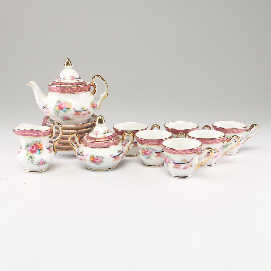 Limoges Miniature Porcelain Tea Set