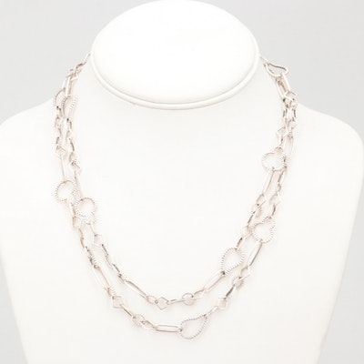 Lagos Sterling Silver Fancy Chain Necklace