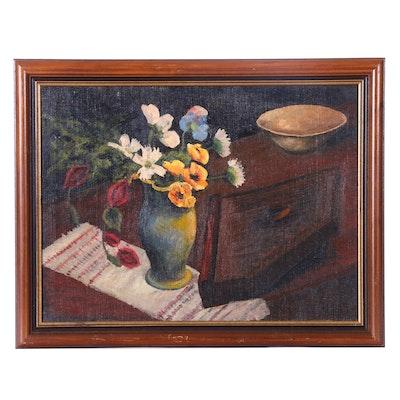 H. Hewitt Still Life Oil Painting