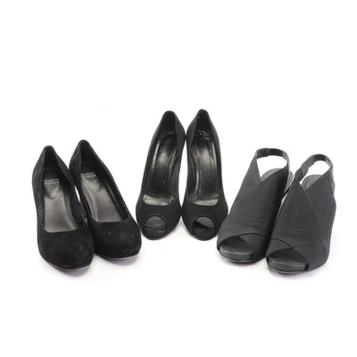 Salvatore Ferragamo and Eileen Fisher Black Wedges and Pumps