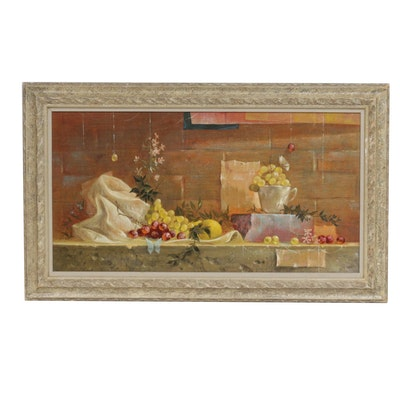 Don Lord Still Life of Fruit Oil Painting
