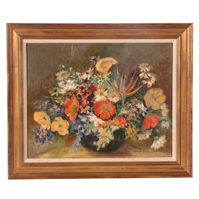 Alice Dietz Floral Still Life Oil Painting