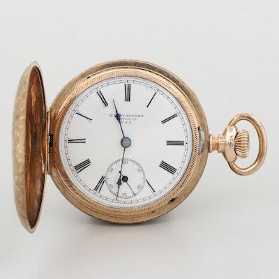 New York Standard Gold Filled Hunter Case Pocket Watch