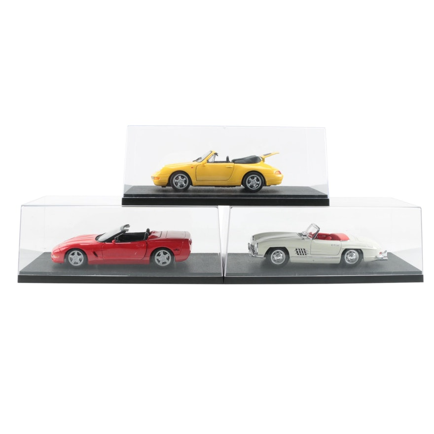 Diecast Cars including BBurago Mercedes-Benz 300SL