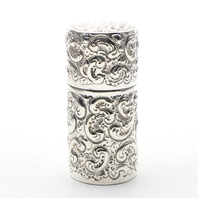 Theodore B. Starr Sterling Silver Étui, Late 19th to Early 20th Century