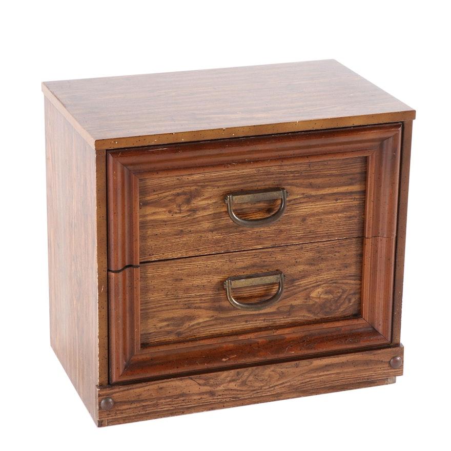 Bassett Furniture Chestnut Finished Night Stand, Mid Century
