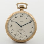 Vintage Elgin Gold Filled Open Face Pocket Watch, 1924