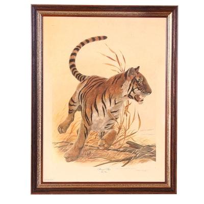 "John Ruthven Offset Lithograph ""Bengal Tiger"""