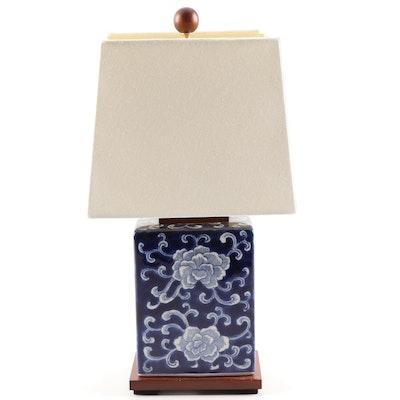 Ralph Lauren Cobalt and White Chinoiserie Ceramic Table Lamp