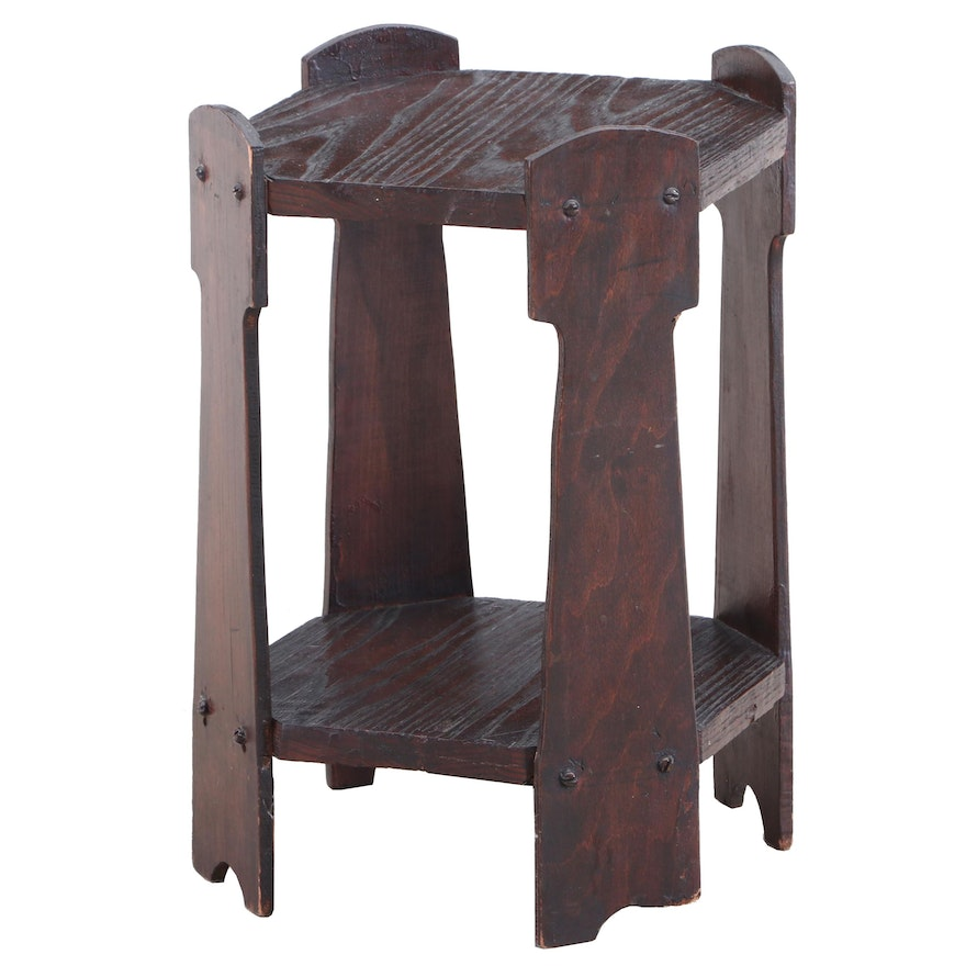 Arts & Crafts Oak Side Table, Early 20th Century