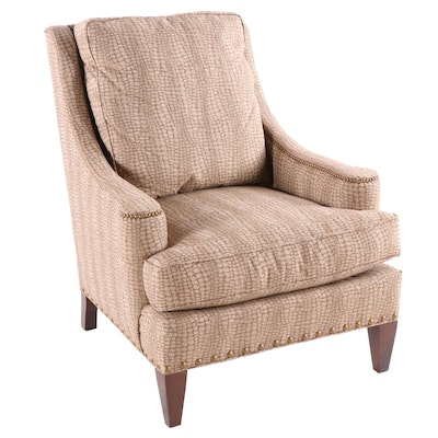 Sherrill Furniture Reptilian Print Upholstered Armchair, Contemporary