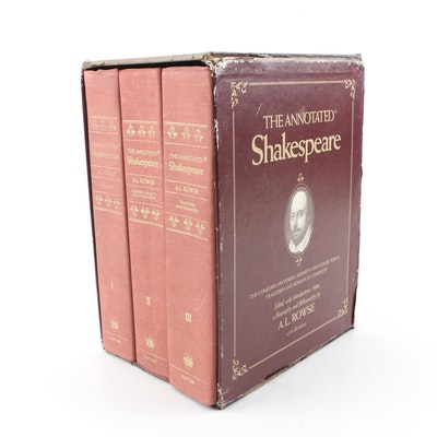 """1978 First Edition """"The Annotated Shakespeare"""" Box Set in Three Volumes"""