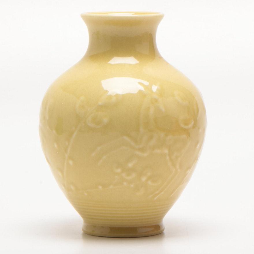 Rookwood Pottery Slip Trailed Bud Vase, 1940