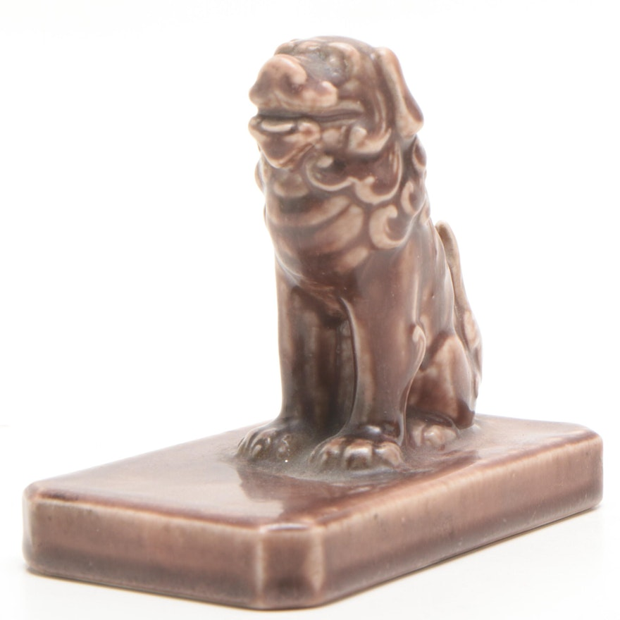 Rookwood Pottery Dog Paperweight, 1924