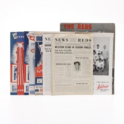 Cincinnati Reds Baseball Ephemera, 1940s-1950s