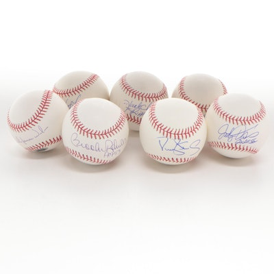 Tri-Star Autographed Baseballs, Includes Brooks Robinson, COAs