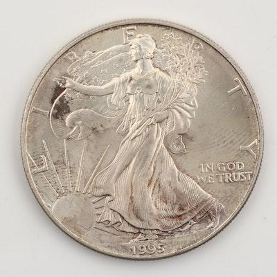 1995 Silver American Eagle $1 Coin