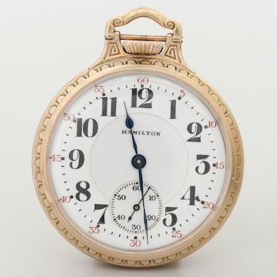 Hamilton 10K Gold Filled Pocket Watch, 1925
