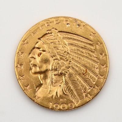 1909-D Indian Head $5 Gold Coin