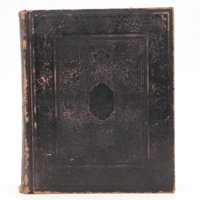 """1858 Leather Bound """"The Holy Bible"""""""