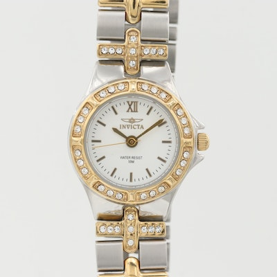 Invicta Wildflower Two-Tone Stainless Steel Quartz Wristwatch