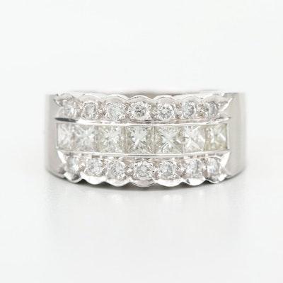 18K White Gold 1.50 CTW Diamond Ring